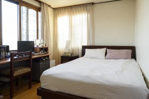 Large comfortable beds in a Simple Spaces apartment in Itaewon